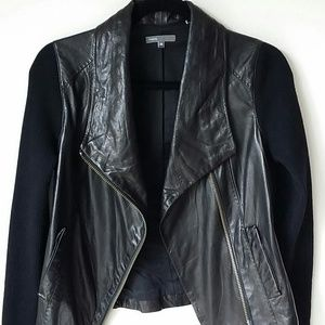 Vince leather wool jacket size XS